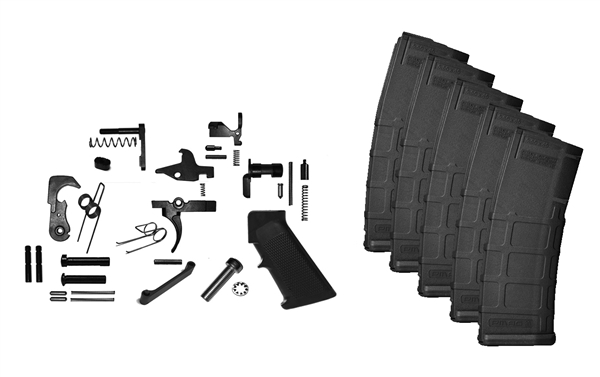 Standard Lower Parts Kit and 5 x Gen 2 PMAGS