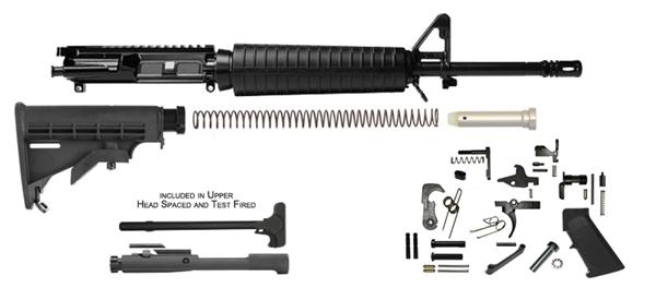 Del Ton Inc Ar 15 16 Mid Length Rifle Kit