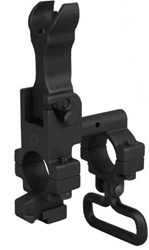 YHM Hooded Flip Up Front Sight Gas Block with Bayonet Lug